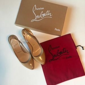 New Christian louboutin's nude leather